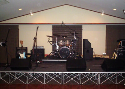 Forge Valley Event Center   large sectioned stage for entertainment